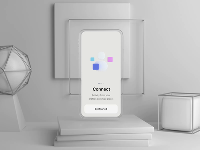Onboarding Flow icon mobile app interaction 3d ux design ios ui