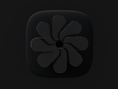 Photos / black ios mac big sur appicon icon ui design 3d
