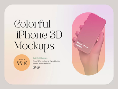 Colorful iPhone Mockups Website animation ux webdesign interaction design web 3d