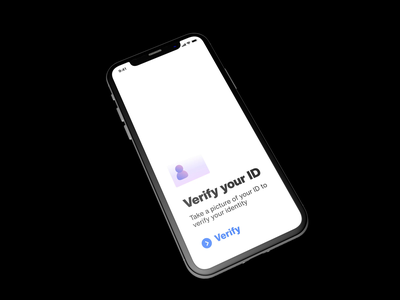 Automated ID Verification automation ai fintech ux user interface user experience designer id verification verification ui transition id product mobile animated interaction ios design  detail screen commercial animation application app 3dobject 3d