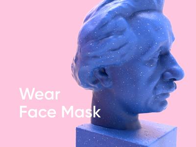 Be Smart, Wear Face Mask covid19 motion einstein cinema4d 3d animation design