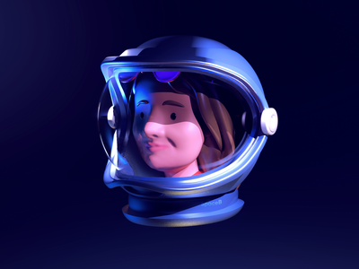 Lost in space astronaut space 3d cgi dribbble character design