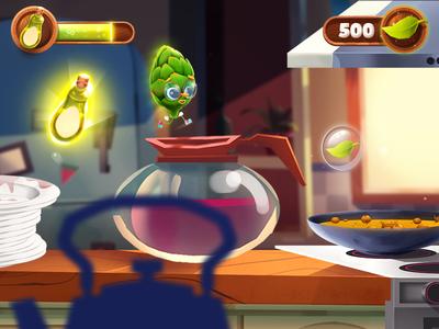 Run Artichoke Run! llustration animation ui ux design character game