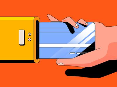 Bank Card Illustration 2 styleframe vector hand design bank banking illustration art artwork money