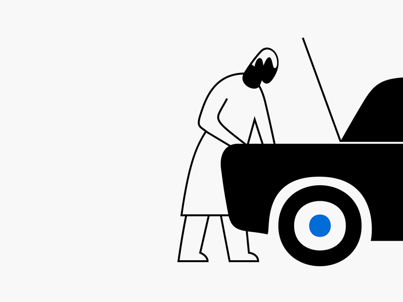 Сar service illustration