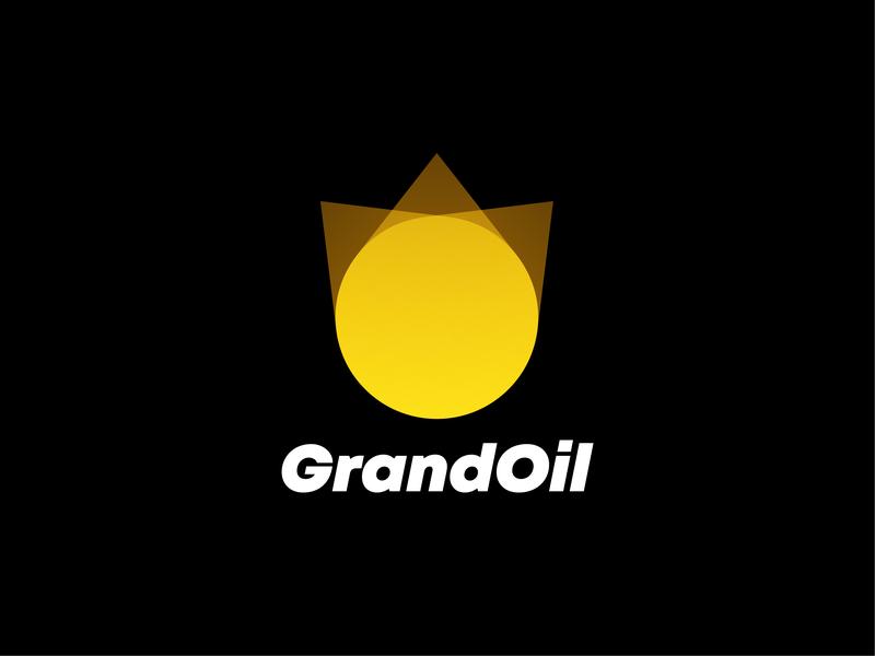 GrandOil Logo simple identity illustration vector branding logotype logo