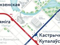 Minsk Metro map #1