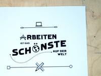 Markenwerk typographic poster