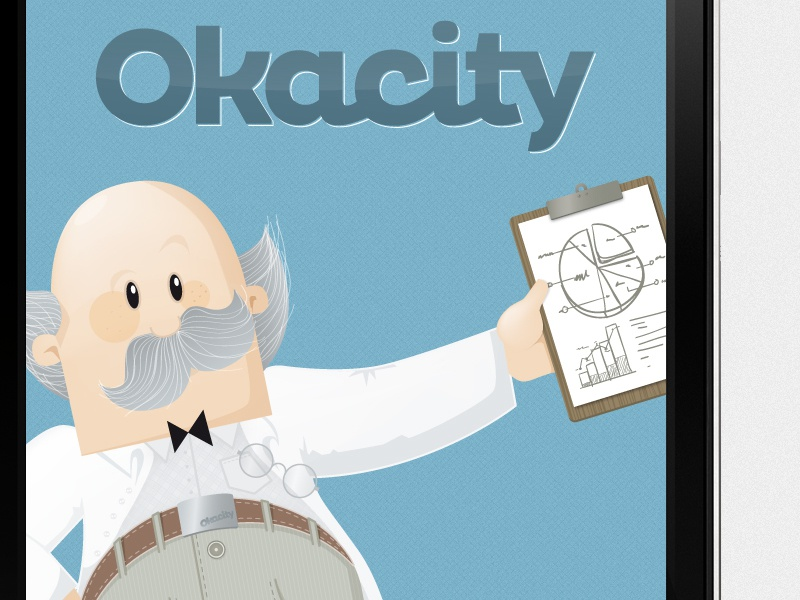 Okacity App Launchscreen mobile app ios android okacity launchscreen character apple iphone smartphone