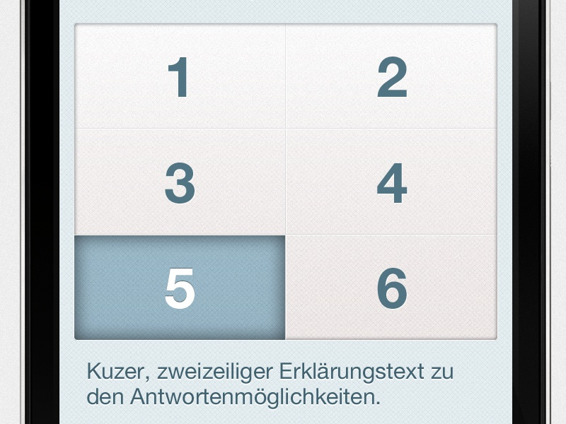 Okacity Iface Umfrage qr mobile app ios android okacity character apple iphone smartphone button survey