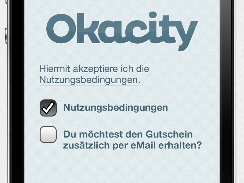 Okacity Iface Nutzungsbedingungen Alt qr mobile app ios android okacity character apple iphone smartphone button terms