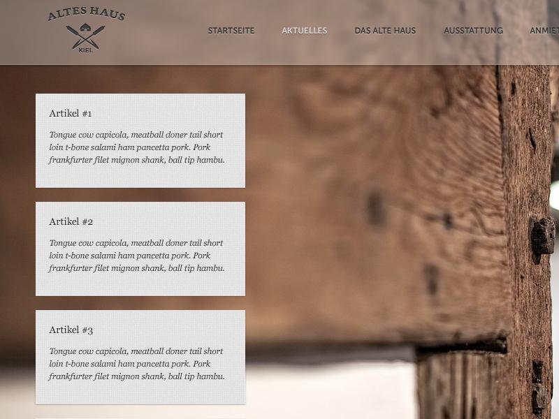 Altes Haus Kiel Website - Aktuelles website ui ux news browser kiel germany internet design