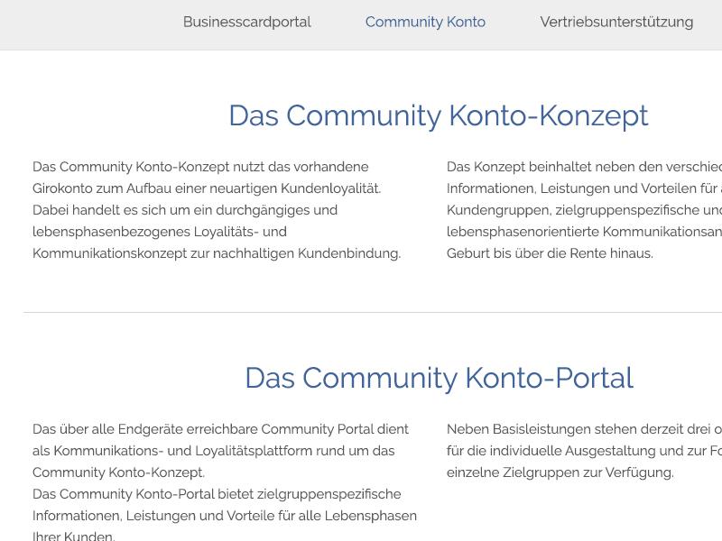 Btacs 2015 Community Konto btacs rwd website ux ui kiel internet germany design browser