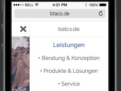 Btacs 2015 Mobile Menu btacs rwd website ux ui kiel internet germany design browser