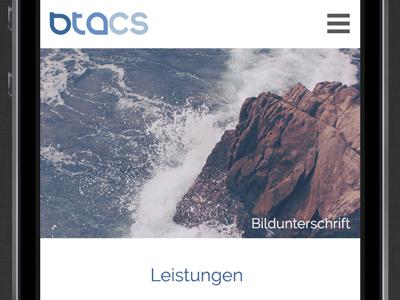 Btacs 2015 Mobile Home btacs rwd website ux ui kiel internet germany design browser