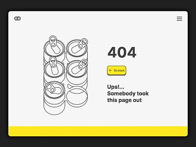 404 error page vector illustration website ui design