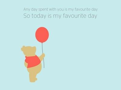 Favourite Day - Winnie the Pooh illustrastion illustrator adobe
