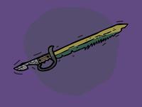 Fishbone - Pirate sword Illustration