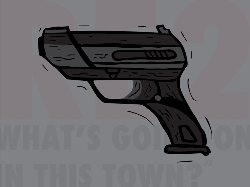 """""""What's going on in this town?!?"""" - #RE2 Illustration design vector photoshop illustration adobe illustrator graphic illustrator"""