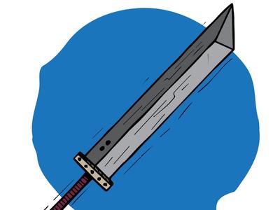 Cloud - Buster Sword Illustration.