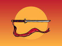 House of the rising sun. Sword illustration.