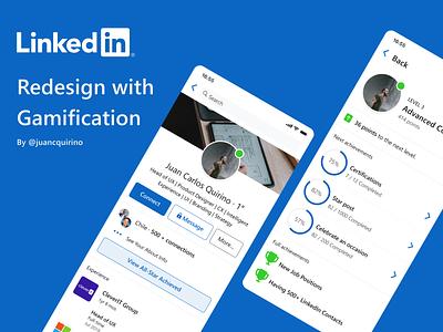 FREE Linkedin Profile Gamification free freebie freebies ui redesign mobile profile gamification linkedin