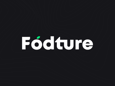 Fodture food app isotype branding design fodture chile delivery food food brand identity darkmode logo foodtech