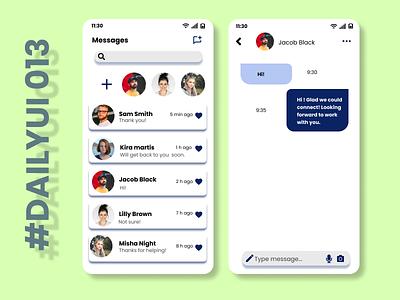 Daily UI 013-Direct Messaging dribbbleshot ui designer ux design appp design messaging app daily ui challenge daily ui ui design ui dailyui design