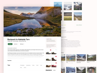 Adventure Redesign design ux ui tourism photography webdesign travel outdoors hiking backpacking adventure