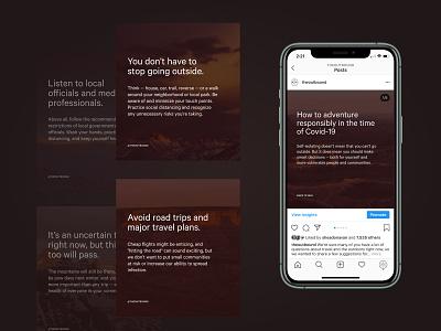 How to Adventure Responsibly marketing design graphic design travel coronavirus copywriting instagram social adventure outdoors covid
