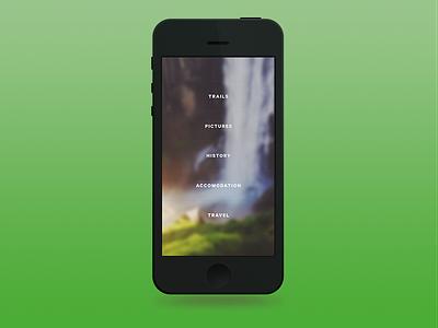 App menu menu ios iphone bokeh blur navigation mobile