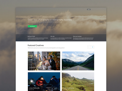 Landing page photography landing page signup login background video kyle frost featured images