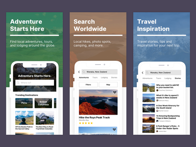 App Store Previews search lodging tours adventure mobile hiking preview ios travel