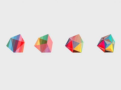 Hi Poly_ mark progression logo mark branding polygon vox motion evolution geometry spectrum isometric geodesic