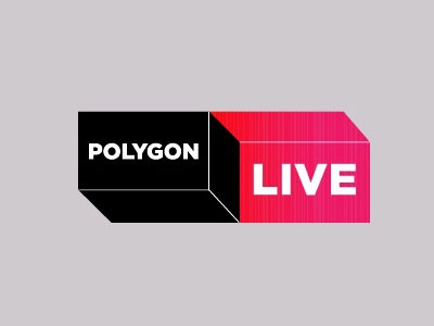 'Polygon Live' branding polygon logo live impossible object geometry
