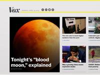 Vox.com // homepage v1