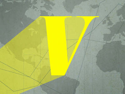 Vox.com - Bat Signal vox news typography journalism yellow