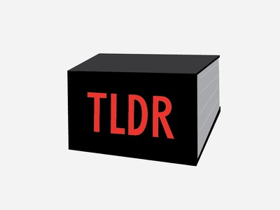 TLDR logo (b side) logo tldr book the verge vox din