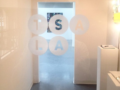 Tiger Strikes Asteroid  //  Los Angeles logo branding gallery contemporary art los angeles tiger strikes asteroid white circles gotham
