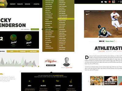 SBNU Moodboard moodboard layout design editorial design ux concept mock sports gotham minimal