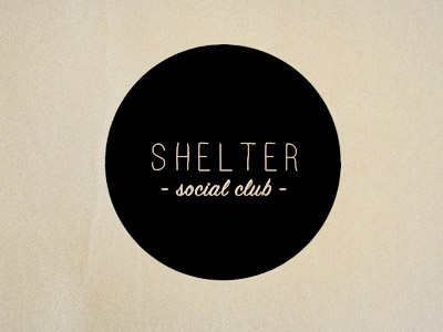 Shelter Social Club Logo identity logo umbrella typography circle shelter social club round