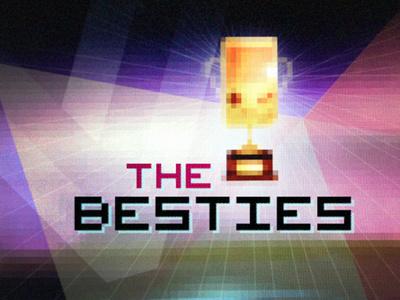 Besties Podcast Logo polygon verge digital nerd videogame culture texture