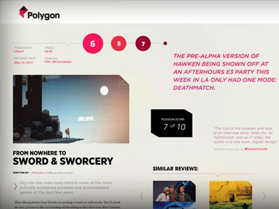 Original Polygon Moodboard polygon vox web design moodboard typography gotham mercury gradient triangle
