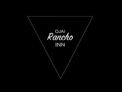 Ojai Rancho Inn Logo logo typography ojai hipster triangle whatever