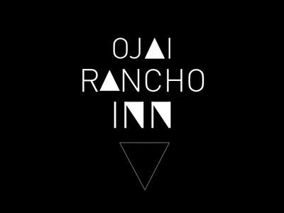 Ojai Rancho Inn (b-side) triangle boutique ojai shelter social club design logo runner-up