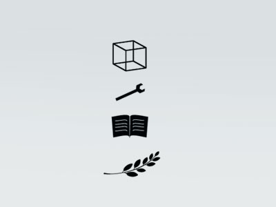 Early Sketches  logo silhouette vector book wrench cube olive branch identity sketch minimal hack
