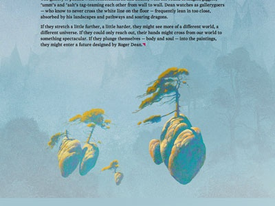 Roger Dean Editorial Design for Polygon editorial design web design responsive feature roger dean typography floatings islands