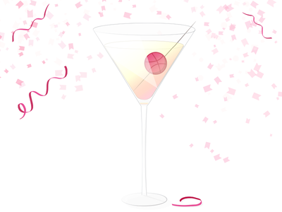 Dribbbletini for everyone! thanks hellodribbble illustrator celebration illustration debut