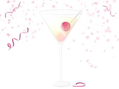 Dribbbletini for everyone! thanks hellodribbble illustrator celebration illustration debut