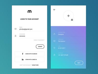 Profilo - An iOS Application For Create & Share Profiles
